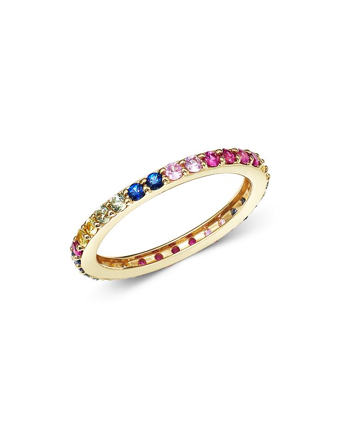 Bloomingdale's - Rainbow Sapphire Band Ring in 14K Yellow Gold- 100% Exclusive