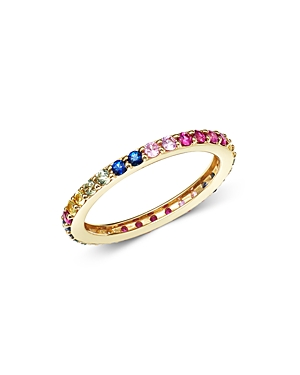 Bloomingdale's Rainbow Sapphire Band in 14K Yellow Gold- 100% Exclusive