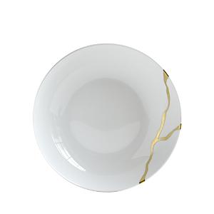 Bernardaud Kintsugi-Sarkis 24K Gold Coupe Soup Bowl