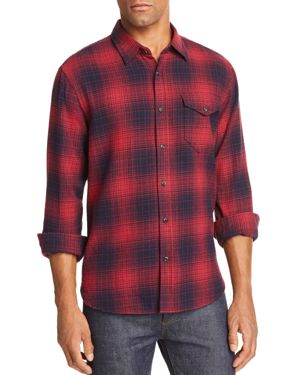 JACHS NY Plaid Regular Fit Button-Down Shirt in Red/Navy