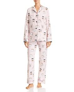 PJ Salvage - Rise & Grind Coffee Print Cotton Pajama Set