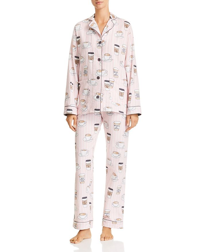 d297a3465b PJ Salvage - Rise   Grind Coffee Print Cotton Pajama Set