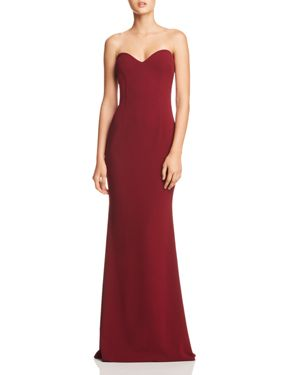 KATIE MAY Myra Strapless Sweetheart Gown - 100% Exclusive in Bordeaux