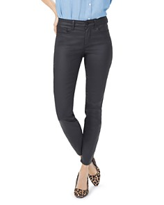 NYDJ - Ami Coated Skinny Jeans in Black