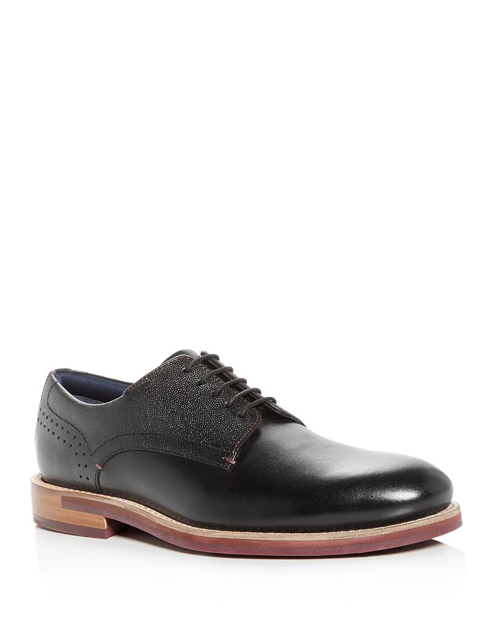 Ted Baker - Men's Jhorge Mixed Leather Plain-Toe Oxfords