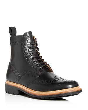Grenson Men's Fred Leather Brogue Wingtip Boots