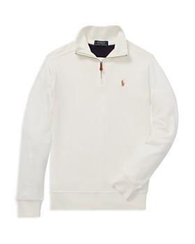 Ralph Lauren - Boys' Supima® Quarter-Zip Shirt - Big Kid