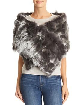 Jocelyn - Reversible Fox Fur-Side Scarf