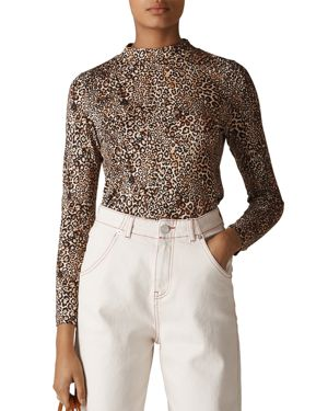 Whistles Essential Leopard-Print Top