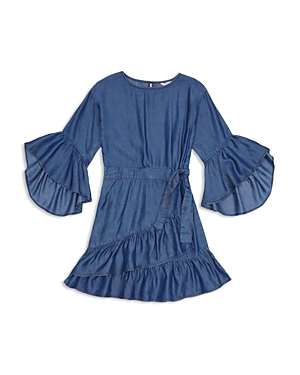 Habitual Girls' Erica Ruffled Bell-Sleeve Dress - Big Kid