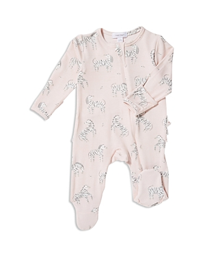 Angel Dear Girls' Zebra-Print Footie - Baby