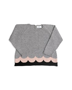 Tun Tun - Girls' Antonia Knit Wave-Print Sweater - Baby