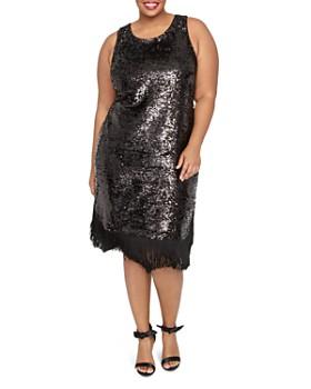 Rachel Roy Plus - Lea Sequined Fringe Dress
