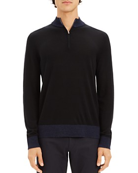 Theory - Rothley Color-Block Quarter-Zip Sweater