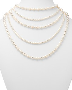 "Bloomingdale's - Cultured Freshwater Pearl Five Row Necklace, 16""-30"" - 100% Exclusive"