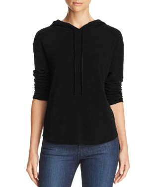 MICHELLE BY COMUNE Michelle By Comune Glenoma Hooded Sweatshirt in Black