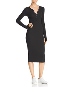 n PHILANTHROPY - Orbit Waffle-Knit Henley Dress