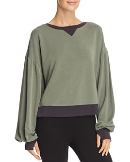 Blanc Noir - Amour Balloon-Sleeve Sweatshirt