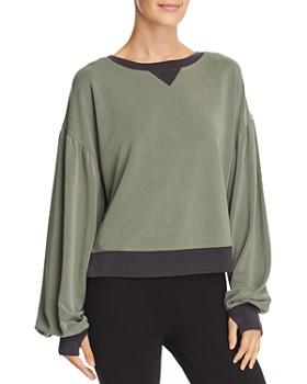 Blanc Noir - Amour Balloon-Sleeve Sweatshirt