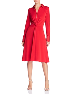 Donna Karan New York Twist-Front Shirt Dress