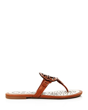 40f98bab1 ... Tory Burch - Women s Miller Scallop Leather Thong Sandals