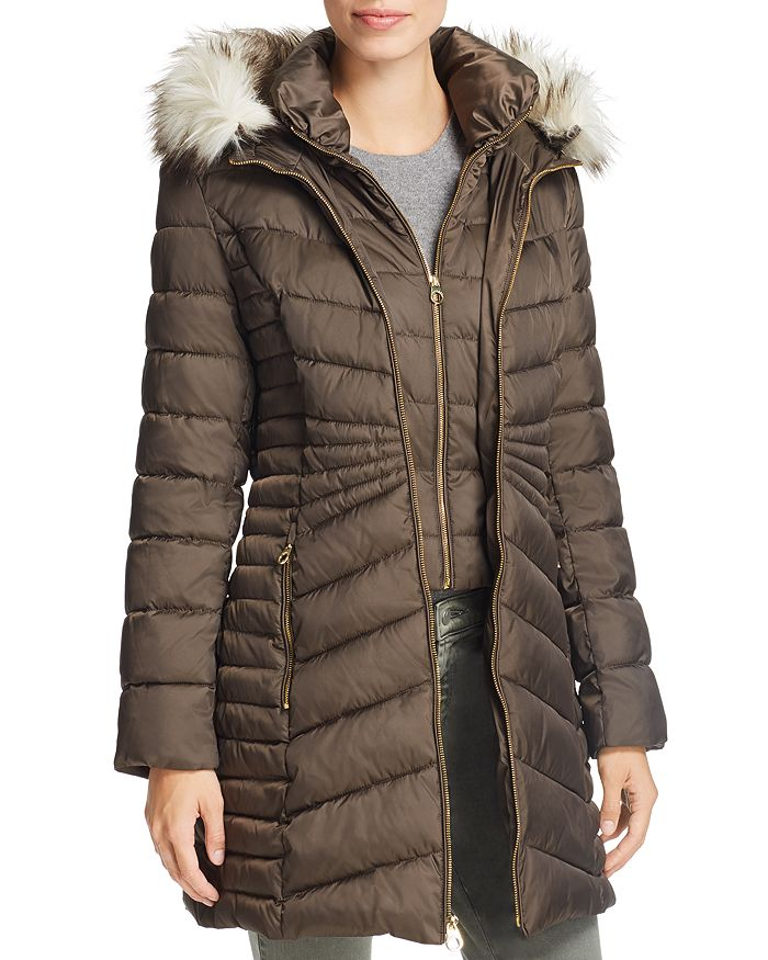ed42f54f38c0f Laundry by Shelli Segal - Faux Fur Trim Puffer Coat