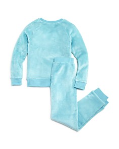 Dream Life - Girls' Faux-Fur Metallic Star Pajama Top & Pants Set - Little Kid, Big Kid
