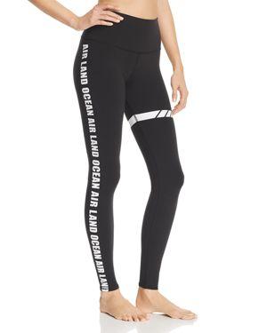 ALO YOGA Airbrush Graphic High-Waist Sport Leggings in Black