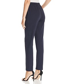St. John - Pinstriped Skinny Cropped Pants