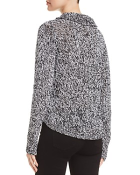 Eileen Fisher - Marled-Knit Cowl-Neck Sweater