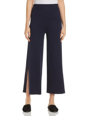Eileen Fisher Slit Wide-Leg Crop Pants - 100% Exclusive