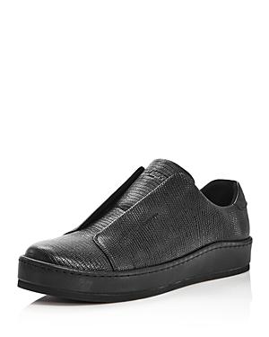 Karl Lagerfeld Paris Leather Slip-On Sneakers