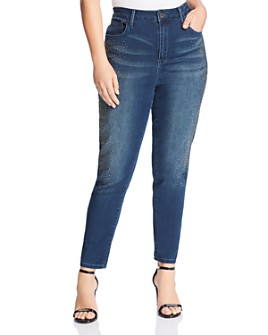 Seven7 Jeans Plus - High-Rise Embellished Jeans in Rendition