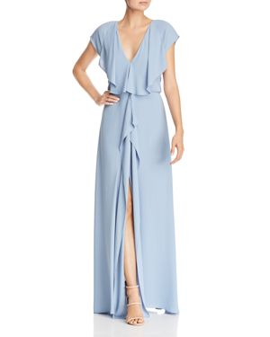 Bcbgmaxazria V-Neck Draped Gown - 100% Exclusive