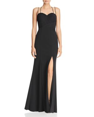 BARIANO Pleated Sweetheart Gown - 100% Exclusive in Black