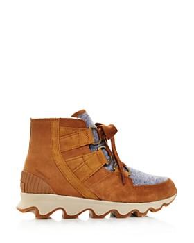 Sorel - Women's Kinetic Almond Toe Waterproof Nylon & Leather High-Top Sneakers