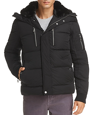 Karl Lagerfeld Paris Faux Fur Lined Puffer Jacket-Men