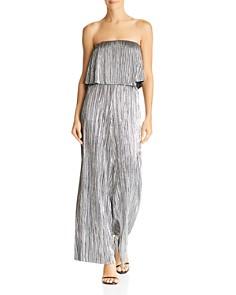 Lucy Paris - Bianca Strapless Metallic Cropped Top