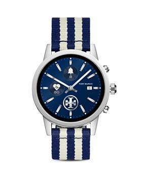 Tory Burch - The Gigi Striped Grosgrain Smartwatch Strap, 20mm