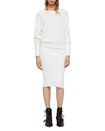 47a87ed2858 ALLSAINTS - Suzie Snap-Sleeve Sweater Dress
