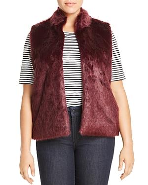 Michael Michael Kors Plus Faux Fur Sweater-Back Vest