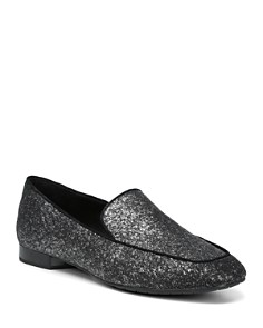Donald Pliner - Women's Honey Almond Toe Glitter Suede Flats