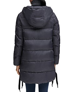 Marc New York - Packable Lightweight Side Lace-Up Puffer Coat