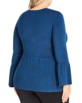 City Chic Plus - Bell-Sleeve Sweater
