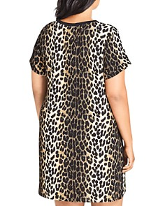 City Chic Plus - Leopard-Print Shift Dress