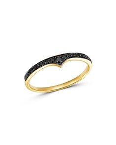 Bloomingdale's - Black Diamond Stacking Band in 14K Yellow Gold, 0.10 ct. t.w. - 100% Exclusive