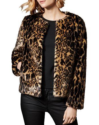 a1a0fc14a7a KAREN MILLEN Leopard Print Faux Fur Jacket   Bloomingdale's