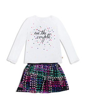 kate spade new york - Girls' Cue The Confetti Top & Dot Skirt Set - Little Kid