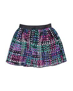 kate spade new york - Girls' Dotty Plaid Skirt - Big Kid