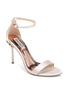 7f6052ecaed Badgley Mischka - Women s Vicia Embellished Satin High-Heel Sandals ...